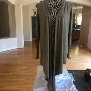 Ladies Sexy Long Shrug Cardigan Drape cut sleeve